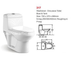 Ceramic One-Piece Toilet (No. 317) , Washdown Toilet, Popular in Saudi Arabia pictures & photos