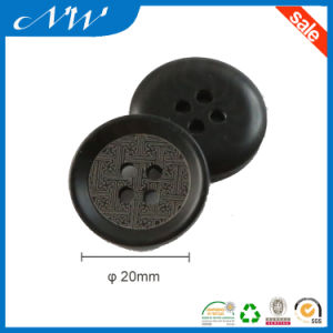 4holes Black Ployester Lady′s Suit Button with Crack Finish pictures & photos