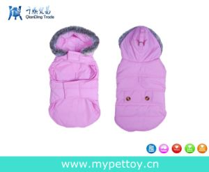 Pink Dog Ultr-Fur Collared Ruffer Vest Pet Warm Coat pictures & photos