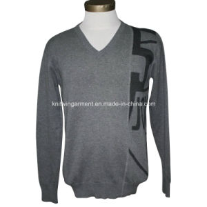 100% Cotton Cable Knitting Long Sleeve Men Clothing (M15-045)