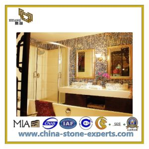 Polished Natural Stone Marble Mosaic Tiles for Bathroom (YQC) pictures & photos
