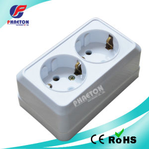 ABS Material Surface Mounting Double 2pin 16A Wall Socket pictures & photos