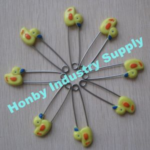 2016 New Arrival 55mm Plastic Duck Head Baby Diaper Safety Pins