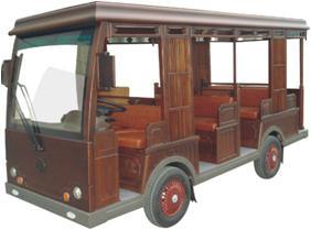 Electric Sightseeing Bus, 14 Seats Electric Car, Classic Bus for Sale pictures & photos