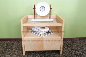 Modern Wooden Birch Veneered Nightstands with One Drawer (N1022) pictures & photos