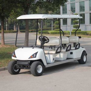 Marshell 6 Seaters White Electric Sightseeing Golf Car (DG-C6) pictures & photos