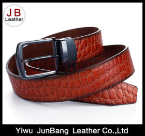 Fashion Men′s Spilt Leather Belt with Reversible Buckle