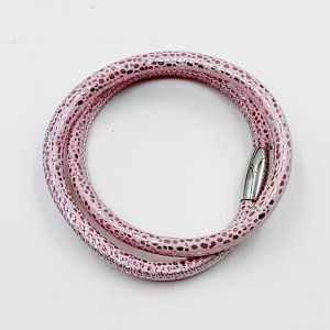 Factory Wholesale Genuine Leather Bracelet with Magnet Stainless Steel Clasp pictures & photos