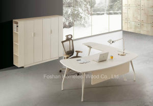Modern White L Shape Office Director Executive Table (HF-YZ0039) pictures & photos