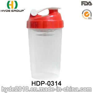 2017 Popular Portable PP Plastic Shake Bottle, BPA Free Plastic Protein Powder Shaker Bottle (HDP-0314) pictures & photos