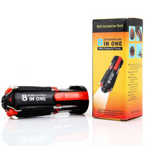 8 in 1 Tool Flashlight Multi Screwdriver with LED Torch pictures & photos