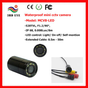20m Wateproof Mini CCTV Camera, Fish Camera with 8 Irs (IR 940nm/5m Night View, 90 deg View, 12g, Glass Cover) pictures & photos