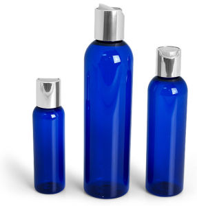 1oz 2oz 4oz 8oz 16oz Blue Cosmo Pet Bottle with Black Fine Mist Sprayer pictures & photos