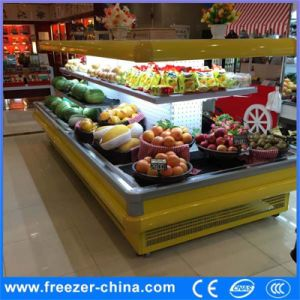 Circle Open Front Fruit and Vegetable Display Cooler Refrigerator pictures & photos