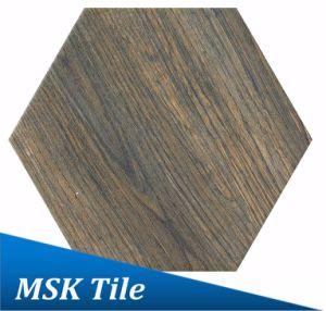 200X230 Porcelain Wood-Look Hexagon Tile Kl-07-Y2 pictures & photos
