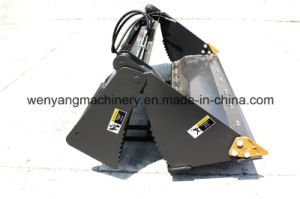 Wenyang Machinery Wheeled Skid Steer Loader 4 in 1 Bucket pictures & photos