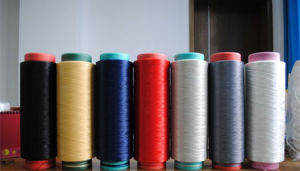 China Factory Wholesale Dyed and Raw Polyester Spun Yarn pictures & photos