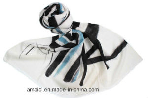 100% Wool Hand Painted Shawl pictures & photos