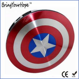Captain America Shield Power Bank 6800mAh with Dual USB (XH-PB-140) pictures & photos