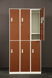 Factory Direct 6 Door Steel Locker School Lockers pictures & photos