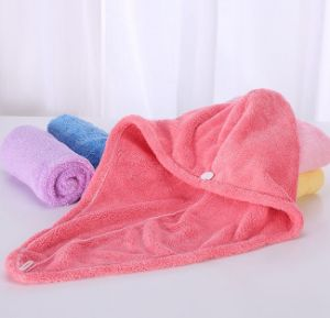 New Coral Fleece Shower Caps Customized Rainbow Colorful Head Towel