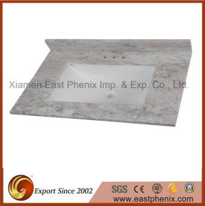 Light Grey Polished Quartz Stone Vanity Top pictures & photos