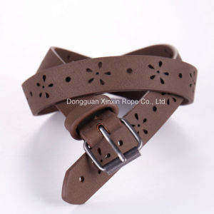 Customize Fashion Weaving Stylish PU Leather Pin-Buckle Belt pictures & photos