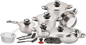 16PCS Stainless Steel Wide Edge Cookware Set, pictures & photos