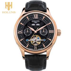 Men′s Fashion Brand Hollow Retro Classic Watches Fashion Crystal Leather Strap pictures & photos