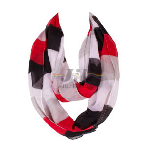 Contrast Color Big Stripe Women Long Hijab Scarf Based on 80s Voile pictures & photos