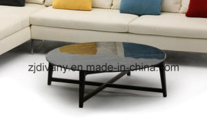 Modern Style Wooden Marble Coffee Table Round Tea Table (T 85A+B+C)