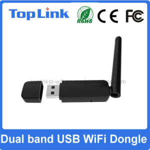 Top-GS07 Rt5572 Dual Band 802.11 Abgn Wireless USB WiFi Dongle with External Foldable 2dBi Antenna pictures & photos