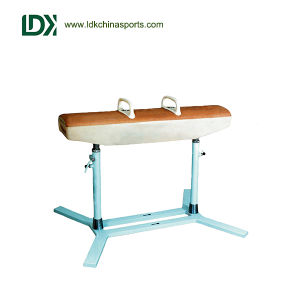 High Grade Genine Leather Surface Gymnastics Equip Pommel Horse pictures & photos