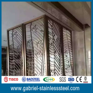 Laser Engraving Stainless Steel Room Divider Partition Screen pictures & photos