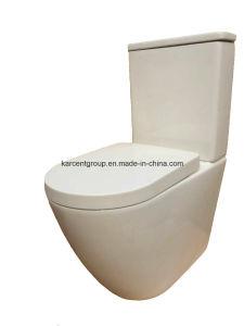 Two Piece Ceramic Toilet Washdown Toilet Water Closet Wc 1088e Rimliss pictures & photos