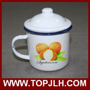 Old Style Sublimation 12 Oz Retro Enamel Cup with Lid pictures & photos