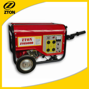 5.5kVA Portable Electricity Alternator Gasoline Generator (set) with Three Phase pictures & photos