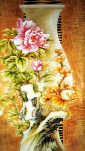 Home Goods Canvas Modern Art Triptych Colorful Flowers Oil Painting Model: No. Hx-4-008 pictures & photos