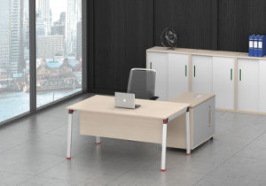 White Customized Metal Steel Office Staff Table Frame with Ht91-1 pictures & photos