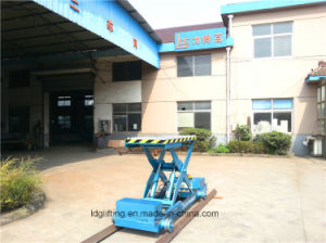 on Track Electric Hydraulic Scissor Aerial Work Lift Platform (SJY0.5-1.1) pictures & photos