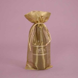 Newest Luxury Metallic Wine Gift Bag pictures & photos