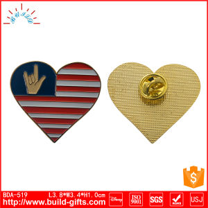 Enamel Badge for Gift with Heart Shape Audited by Disney pictures & photos