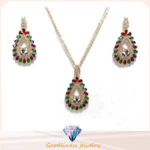 2017 Hot Selling Color Stone Wholesale Silver Jewelry Sets S3388cr pictures & photos