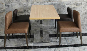 Comfortable Fabric Uphlstory Dining Table and Chair Set (LL-BC084) pictures & photos