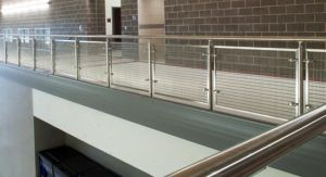 Power Coated Black Steel Railing with Mesh Wire Balustrade pictures & photos