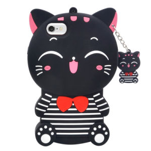 New Style Cartoon Cute Cat Silicone Phone Case for iPhone 7 7plus 6s 6splus pictures & photos
