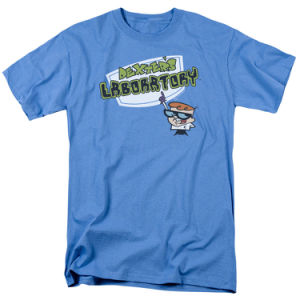 Dexter′s Laboratory Logo Kids Short Sleeve T Shirt (A528)