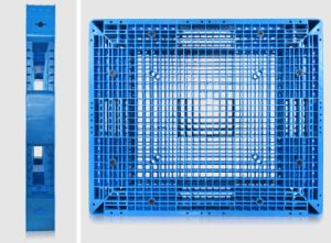 Big Size 1400*1200*150mm Plastic Tray Grid Double Sides HDPE Virgin Heavy Static 6t Rackable Plastic Pallet for Warehouse Products (ZG-1412) pictures & photos