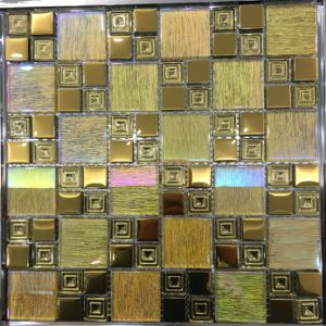 Building Material Interior Wall Tile Laminated Glass Mosaic (M655002) pictures & photos