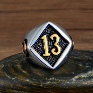 Skull Jewelry Stainless Steel Ring with Arabic Number pictures & photos